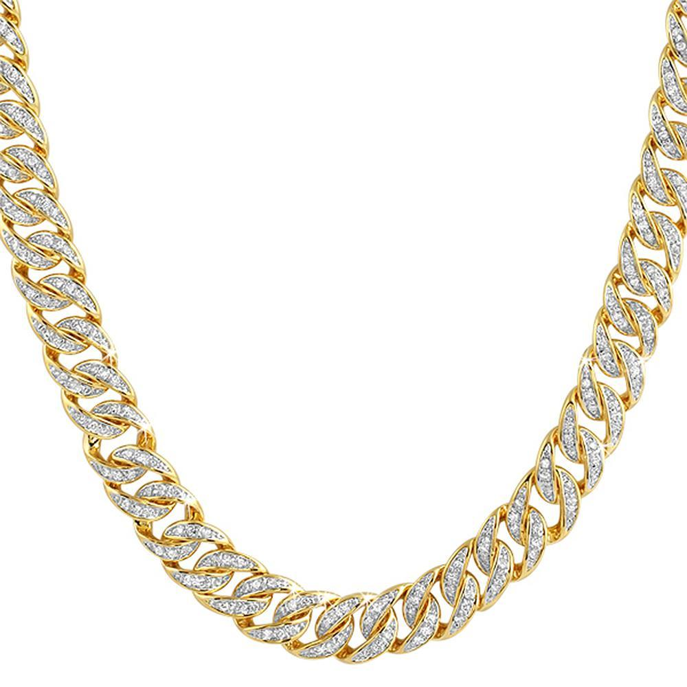CZ Gold Cuban Bling Bling Chain 10MM