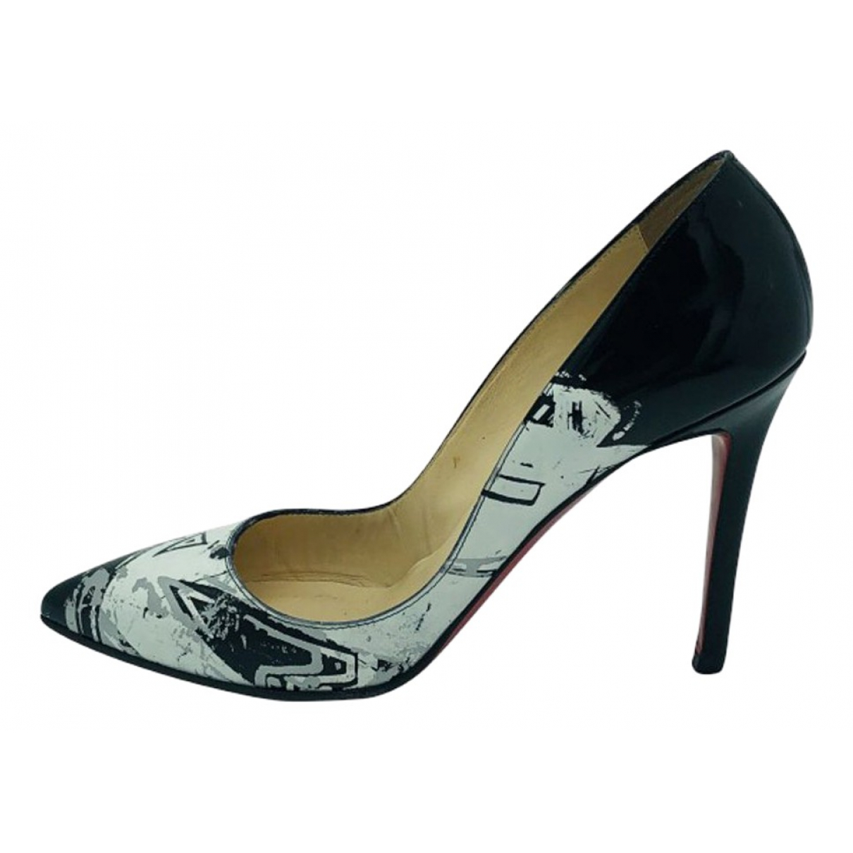 Christian Louboutin \N Black Patent leather Heels for Women 37.5 EU