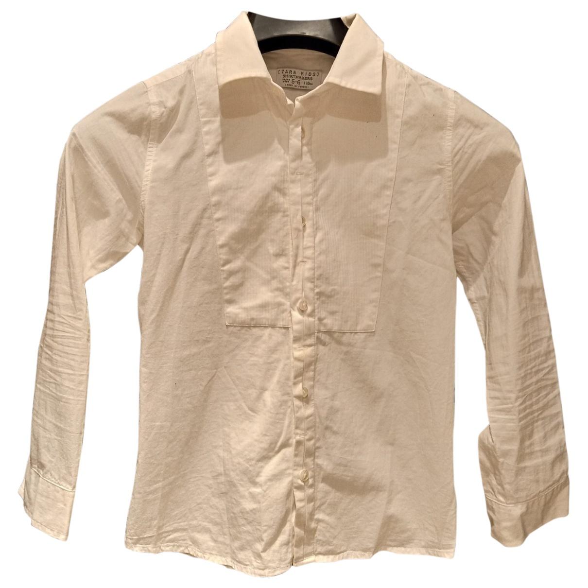Zara - Top   pour enfant en coton - blanc
