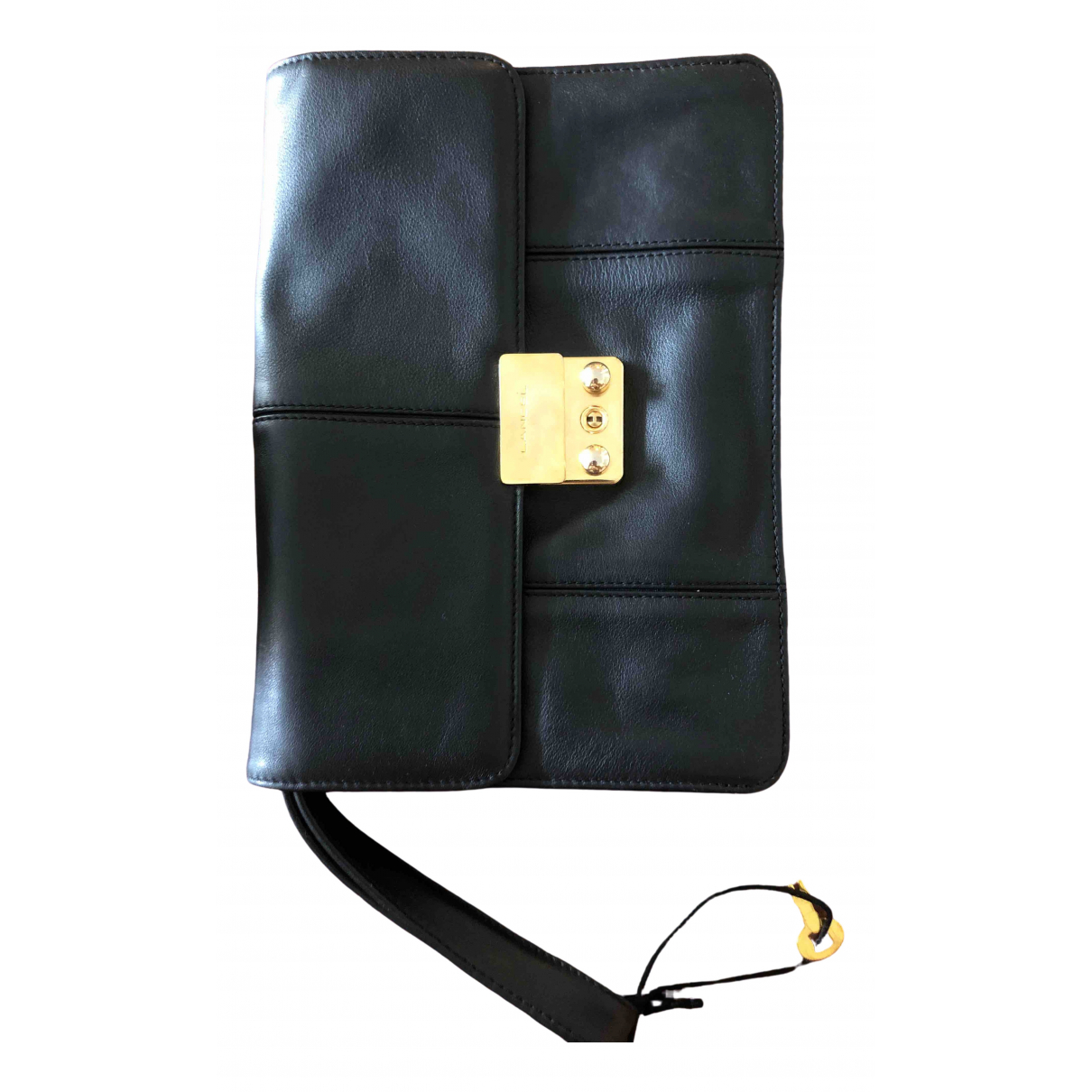 Lancel \N Clutch in  Schwarz Exotenleder