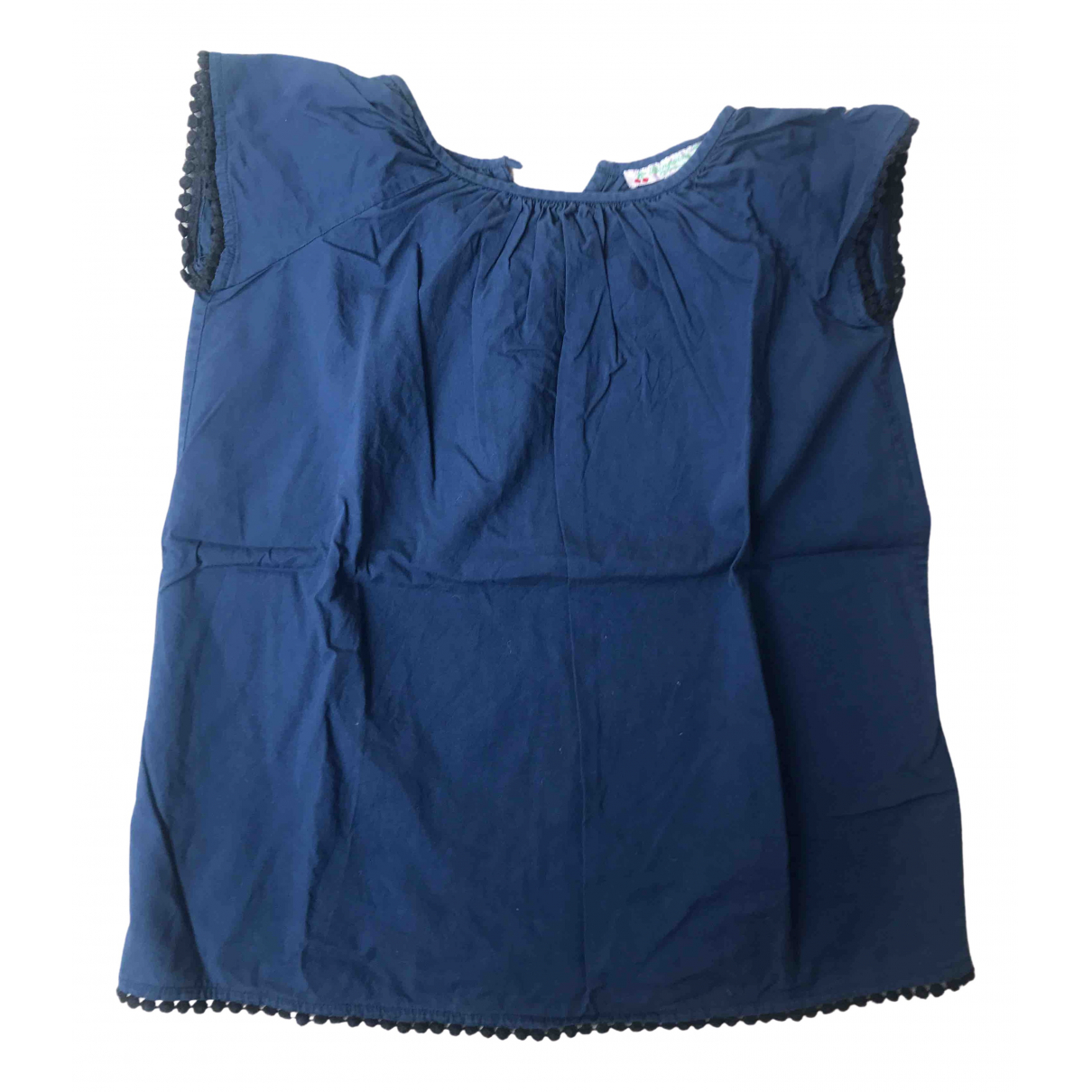 Bonpoint - Robe    pour enfant en coton - marine