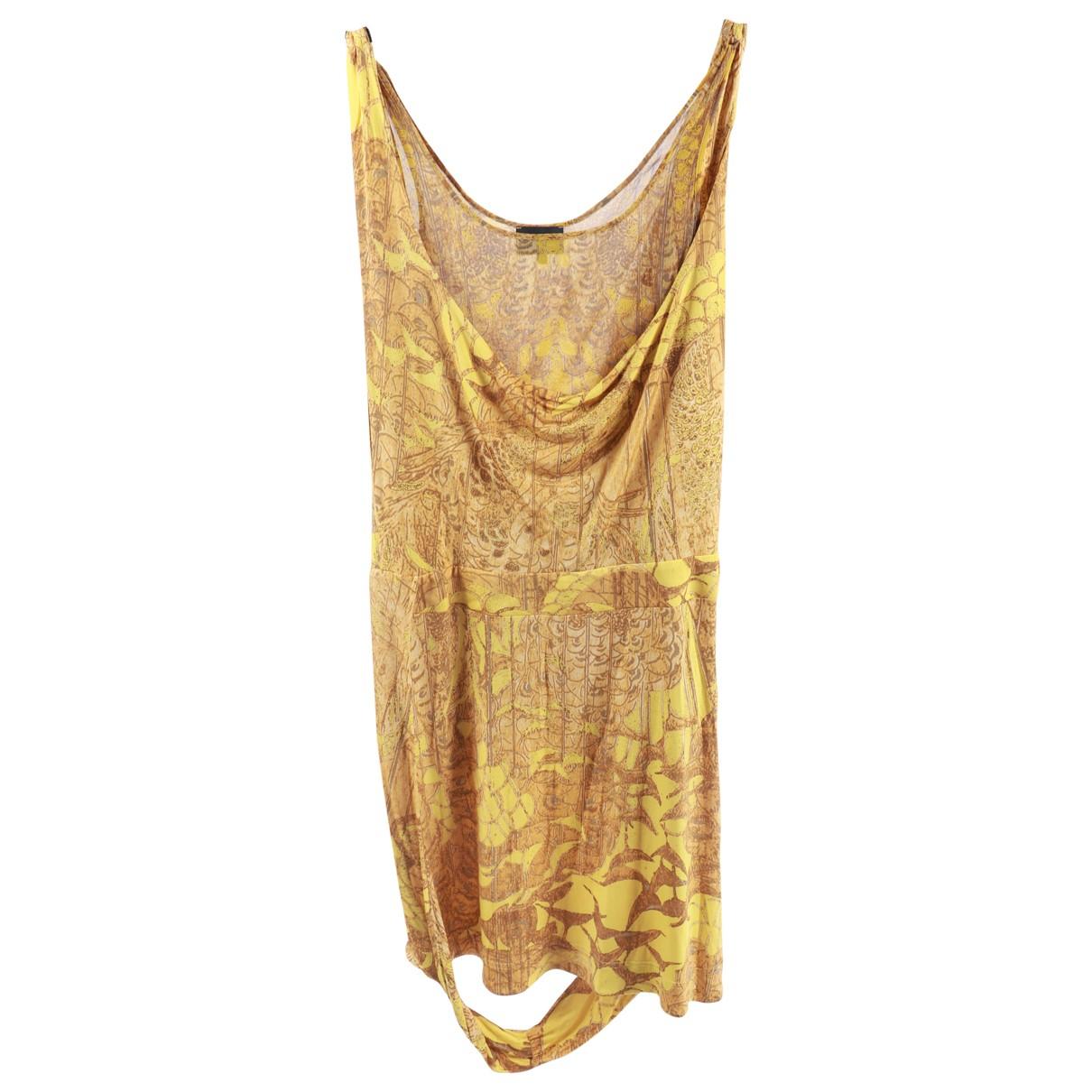Just Cavalli \N Kleid in  Gelb Viskose