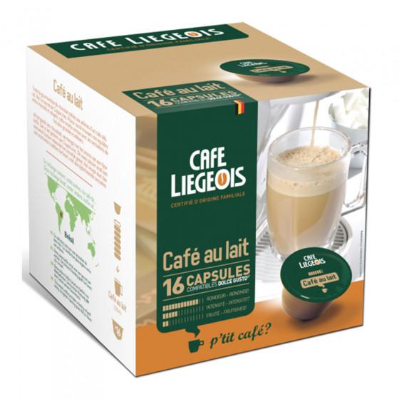 """Kaffeekapseln Cafe Liegeois """"Cafe au lait"""", 16 Stk."""
