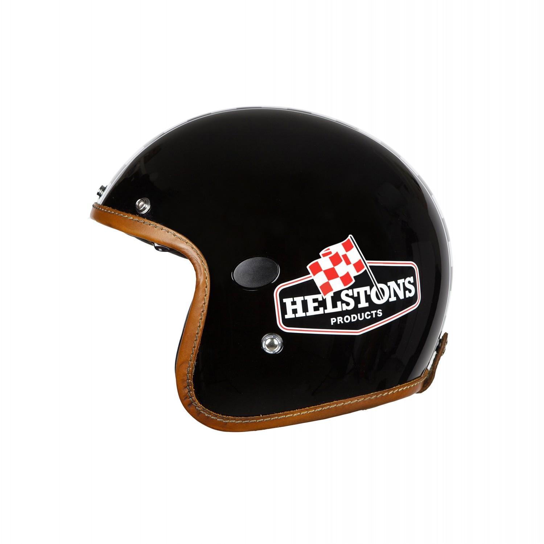 Helstons Flag Carbon Fiber Black Jet Helmet XL
