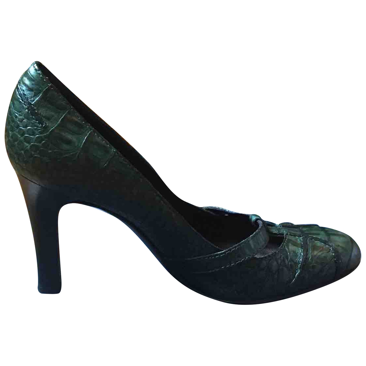 Alberta Ferretti \N Green Leather Heels for Women 36 EU