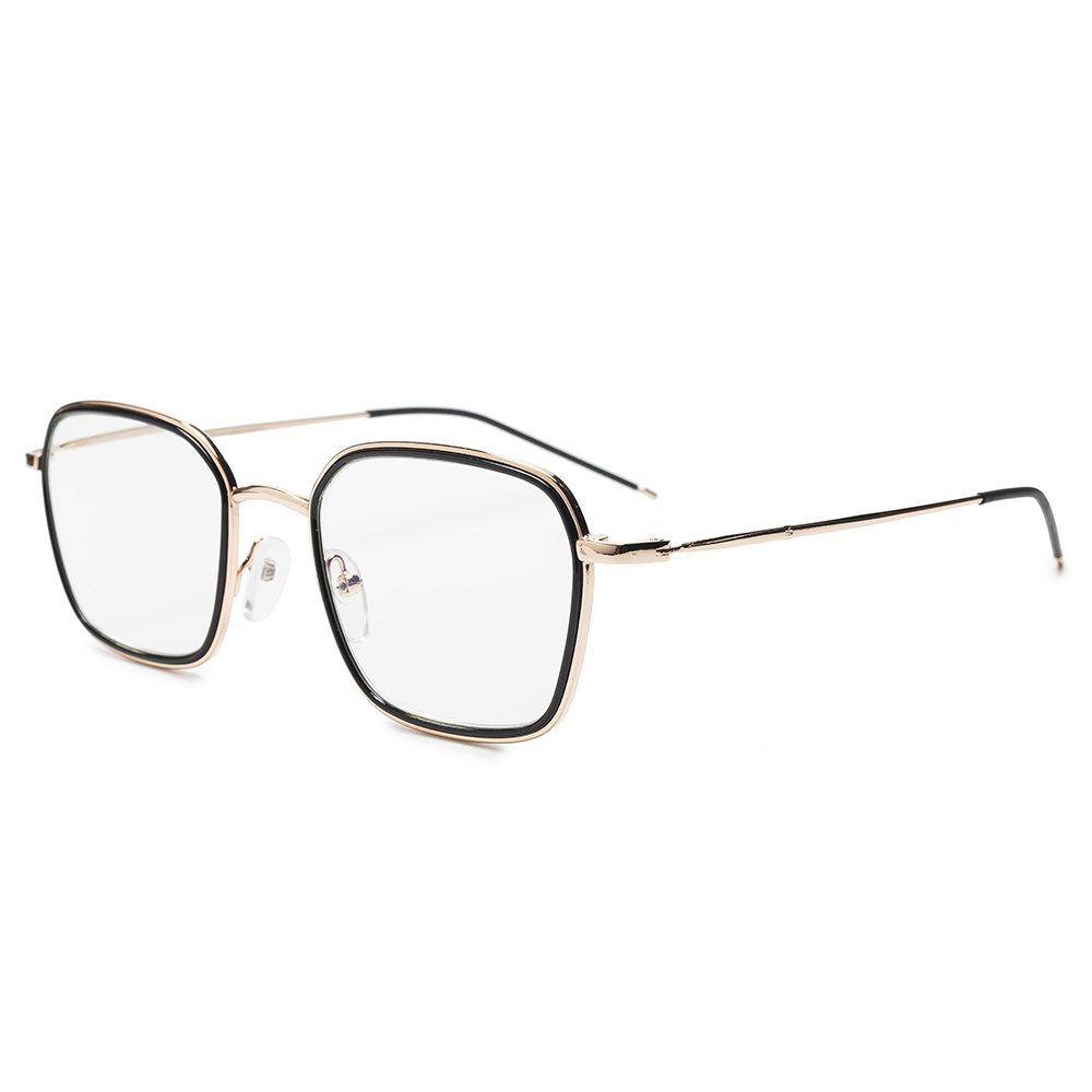 Unisex Vogue Anti-blue Anti-fatigue Metal Frame Comfortable Computer Circle Round Reading Glasses