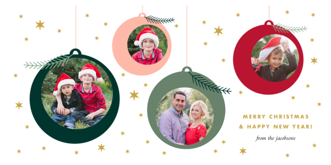 Christmas Photo Cards Flat Matte Photo Paper Cards with Envelopes, 4x8, Card & Stationery -O'Joy