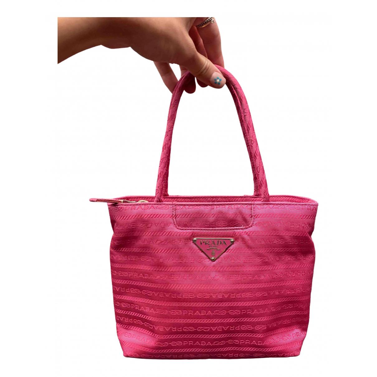 Prada - Sac a main Tessuto  pour femme - rose