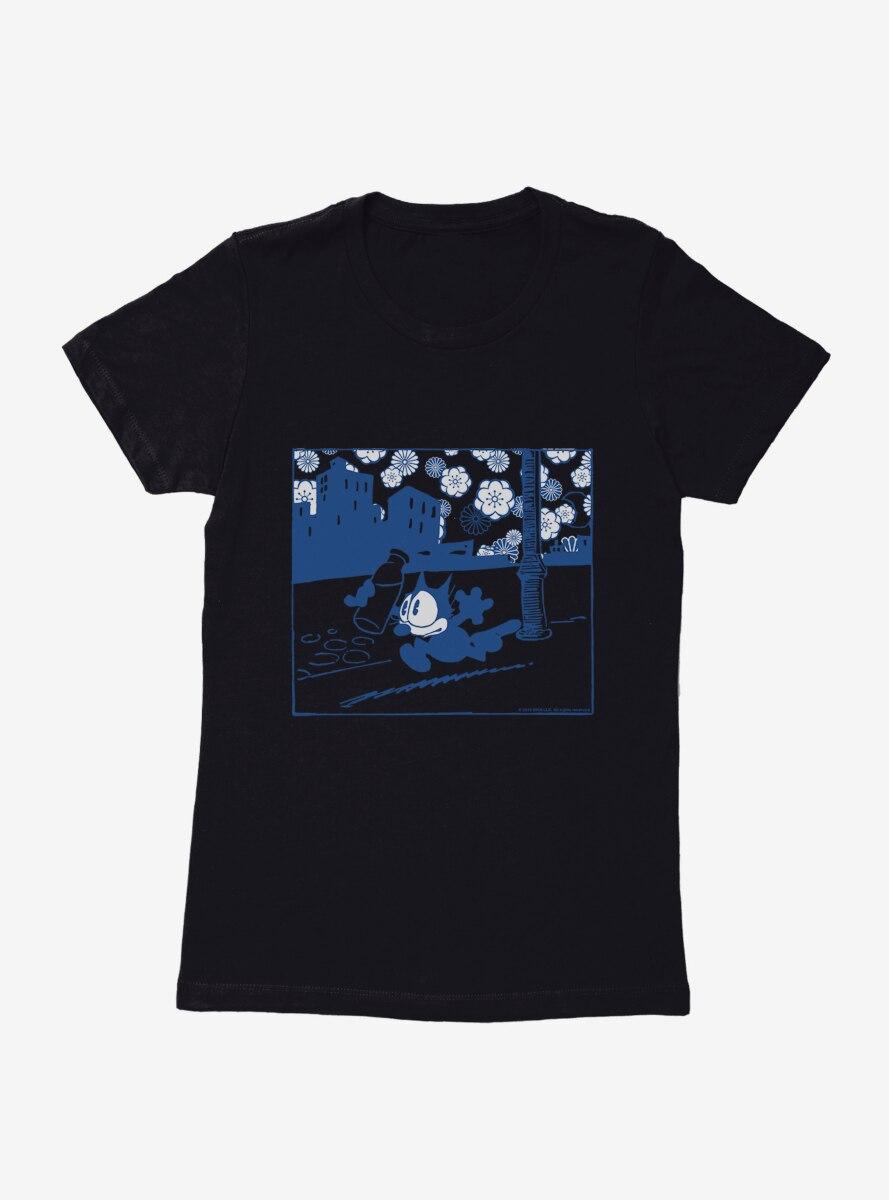 Felix The Cat Milk Bottle Womens T-Shirt