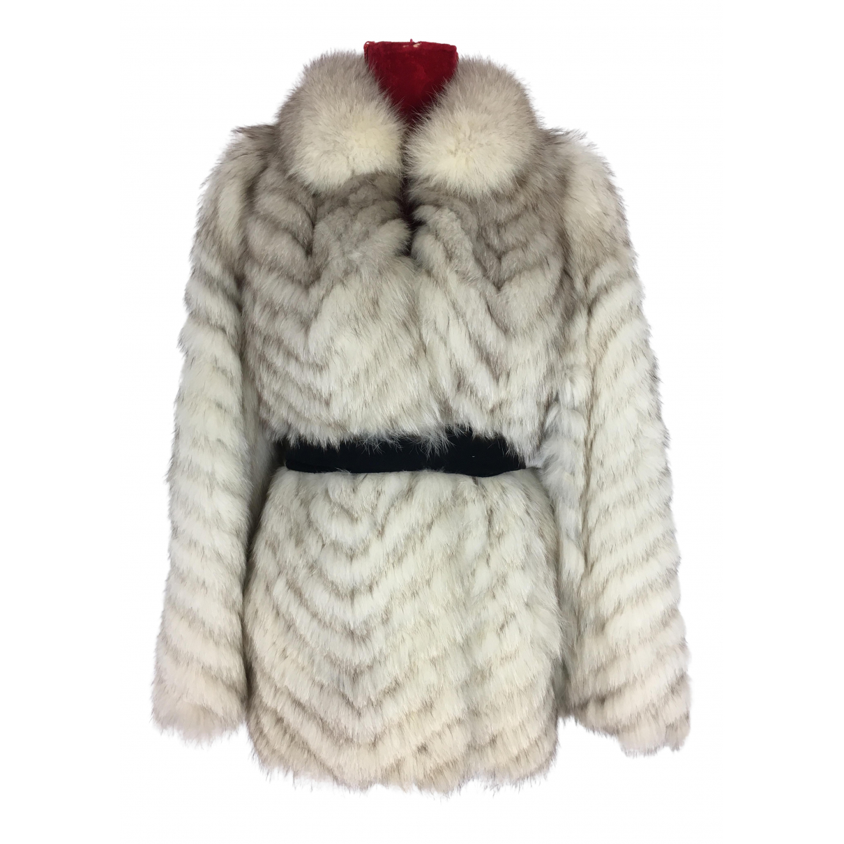 Saga Furs - Manteau   pour femme en renard - blanc