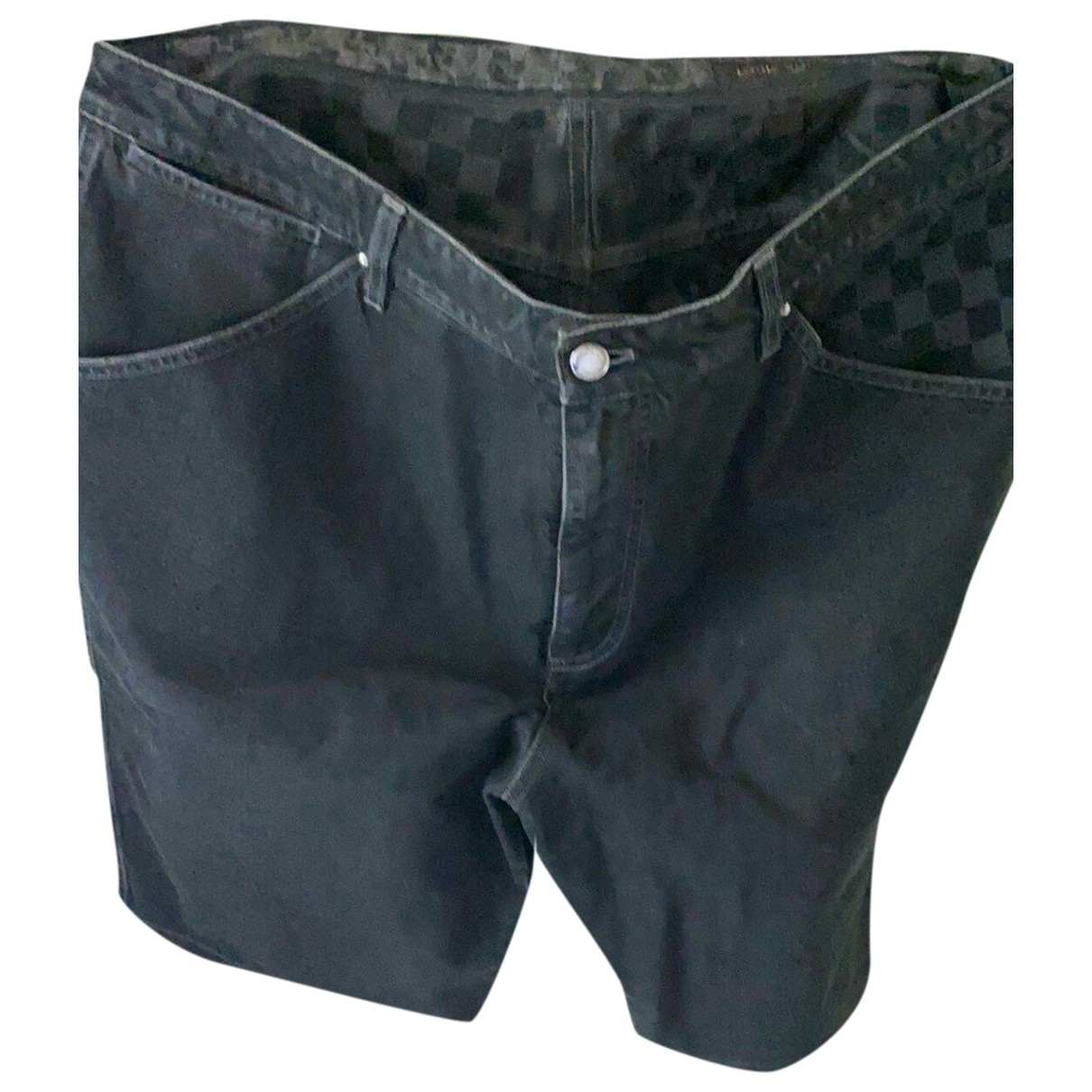 Louis Vuitton \N Shorts in  Schwarz Denim - Jeans