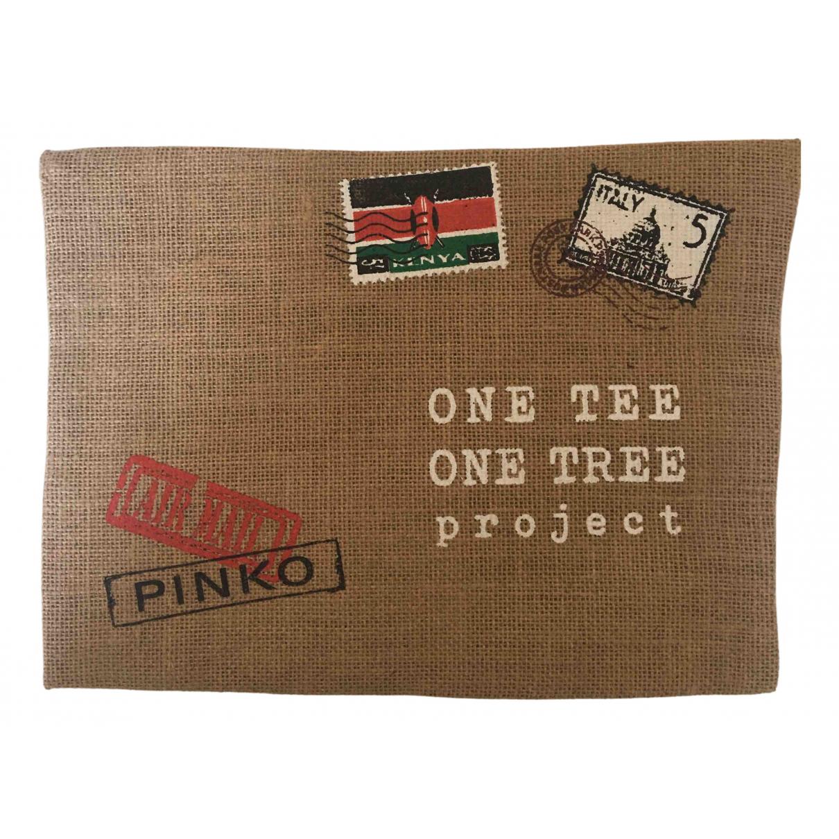Pinko N Beige Linen Silk handkerchief for Women N