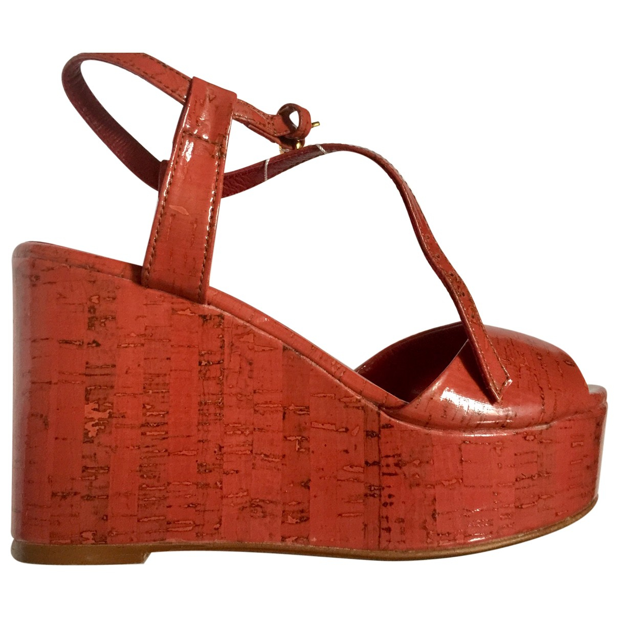 Zara \N Sandalen in  Rot Lackleder