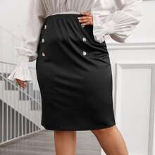 Faldas Extra Grande Doble botonadura Liso Casual