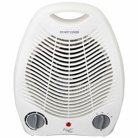 Vie Air 1500W Portable 2-Settings White Office Fan Heater with Adjustable Thermostat, One Size , White