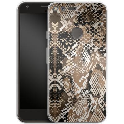 Google Pixel XL Silikon Handyhuelle - Snakeskin von caseable Designs