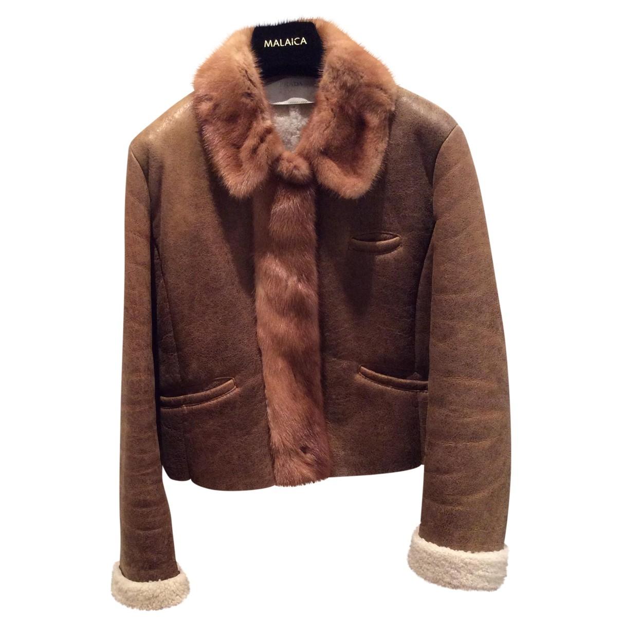 Prada \N Camel Shearling jacket for Women 44 IT