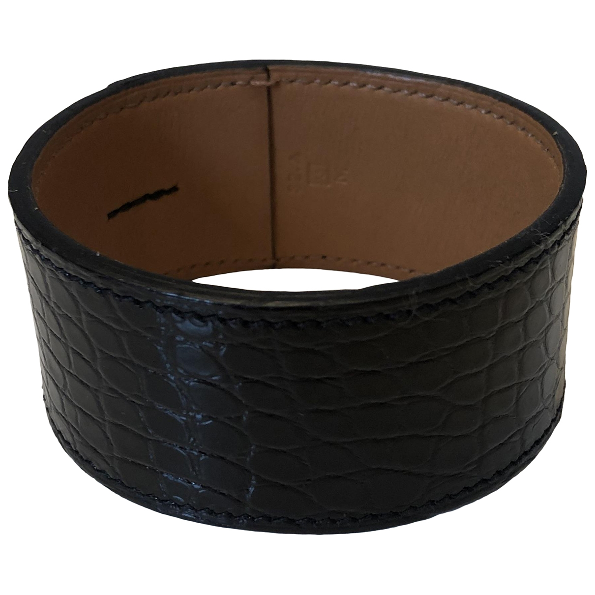 Hermes \N Armband in  Schwarz Leder