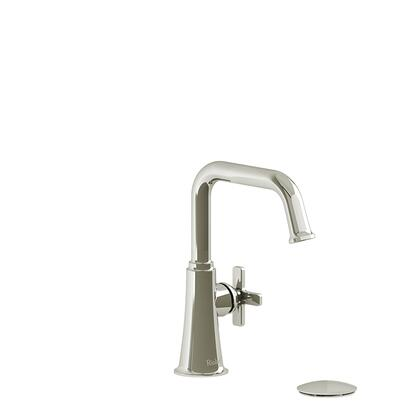 Momenti MMSQS01XPN Single Hole Lavatory Faucet with x Cross Handle 1.5 GPM  in Polished