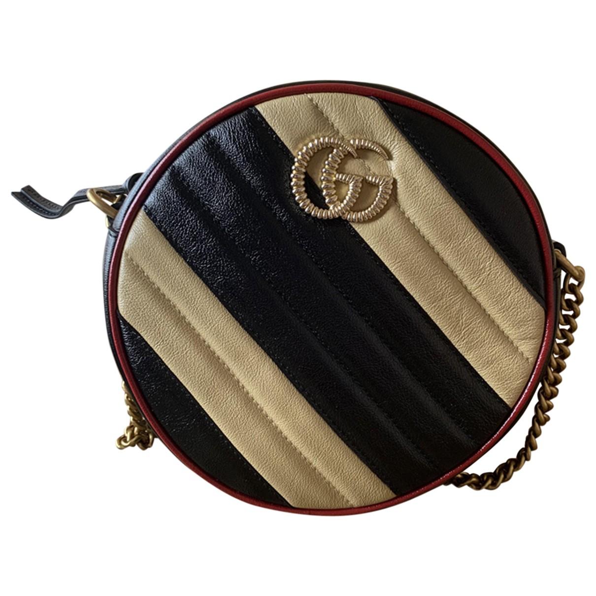 Bandolera GG Marmont Circle de Cuero Gucci