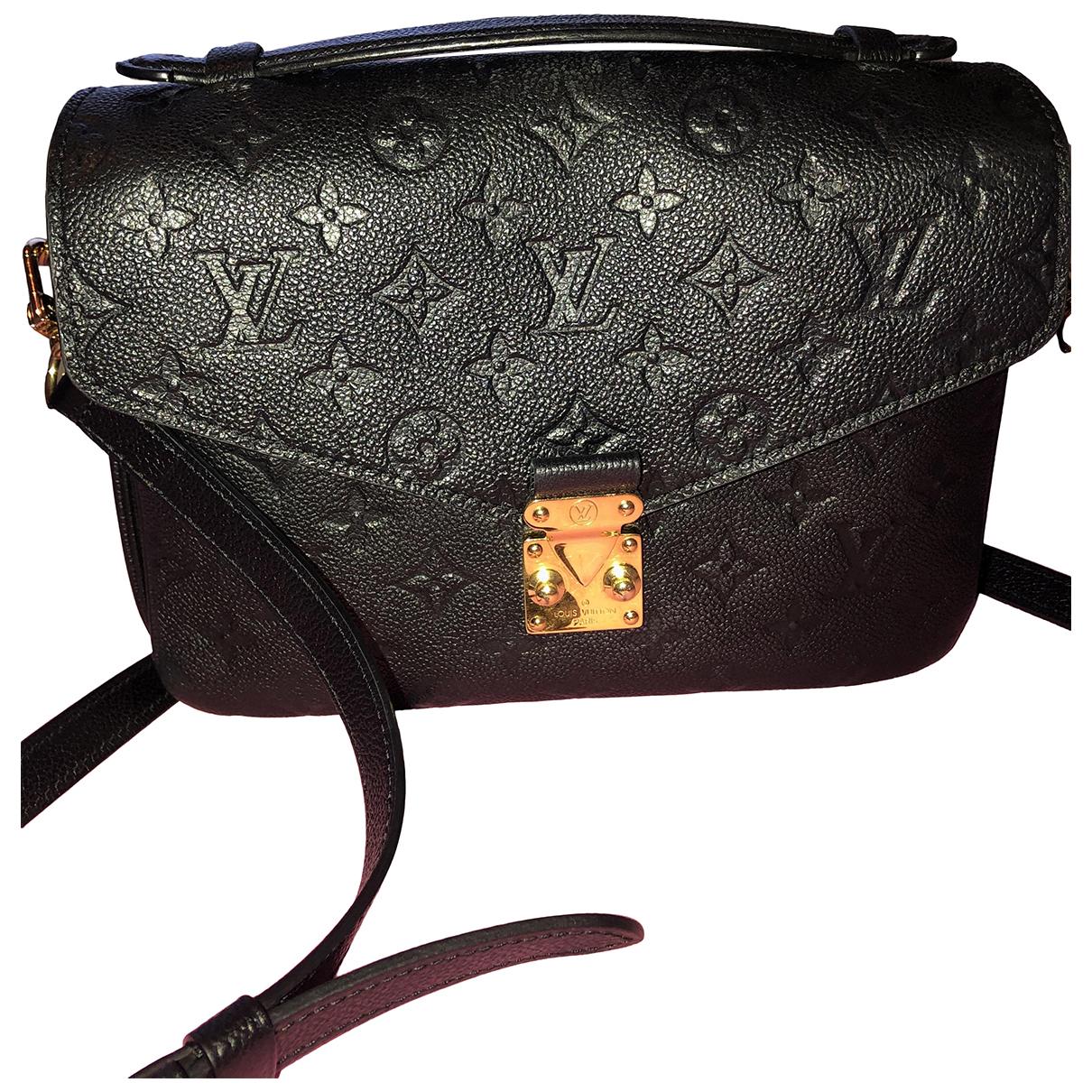 Louis Vuitton Metis Black Leather handbag for Women \N