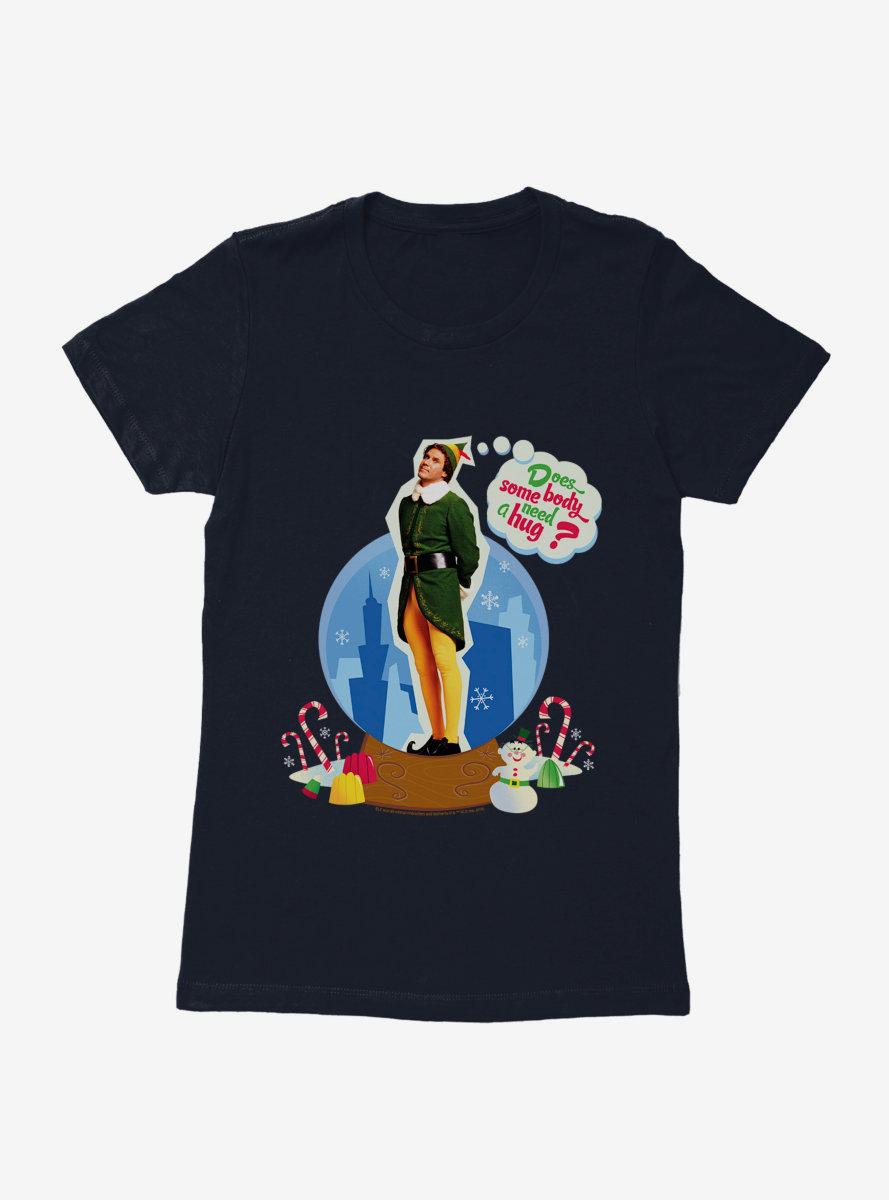 Elf Someone Need A Hug Womens T-Shirt