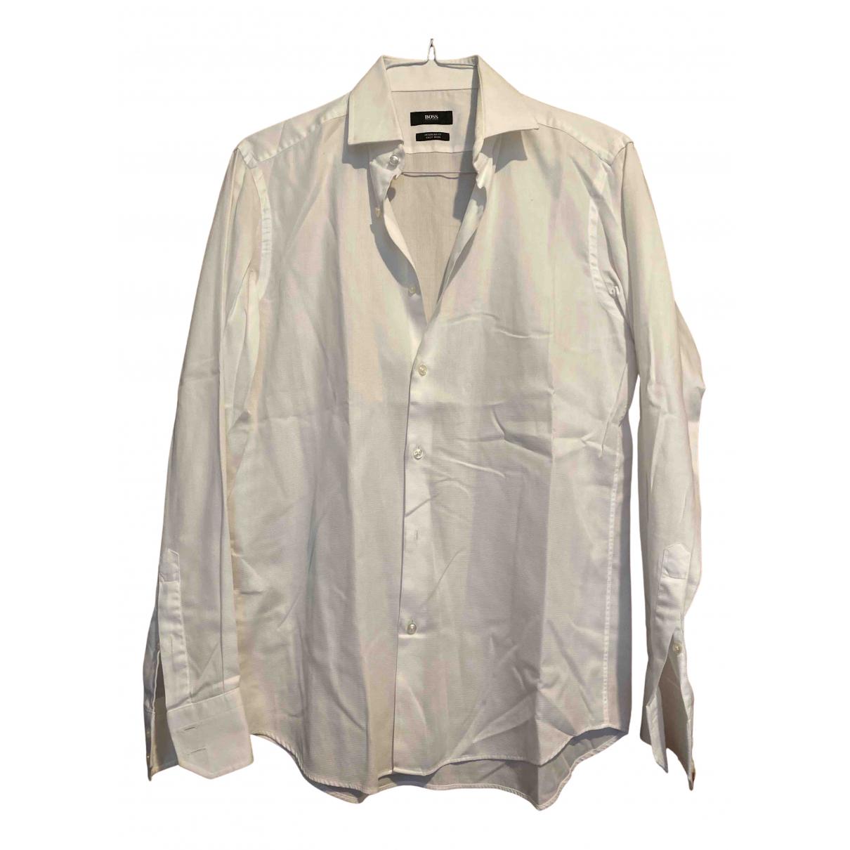 Boss N White Cotton Shirts for Men L International