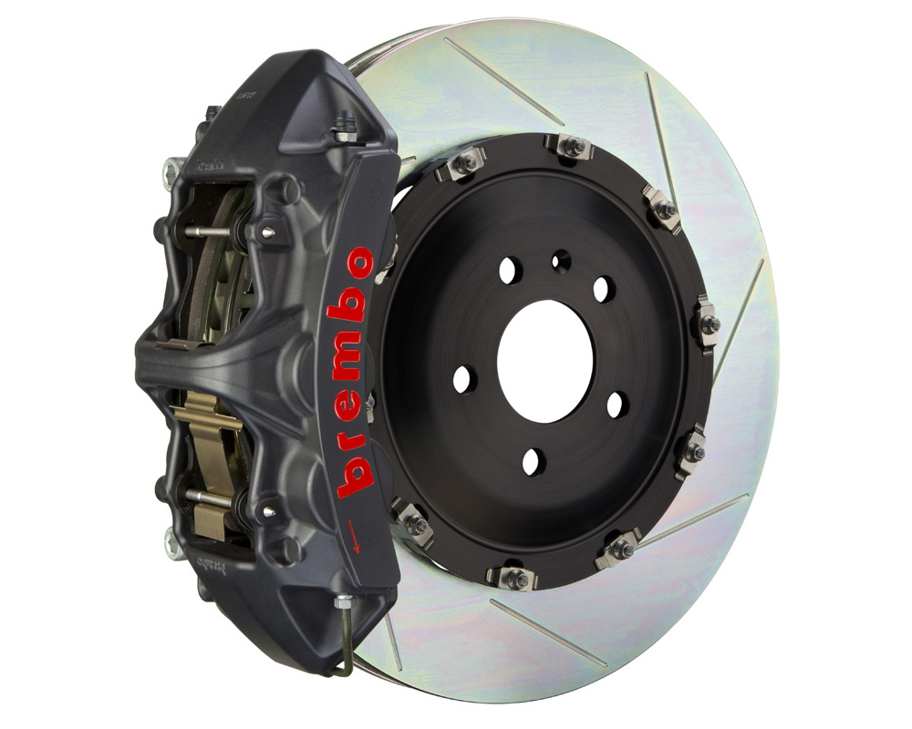 Brembo GT-S 365x34 2-Piece 6 Piston Hard Anodized Slotted Front Big Brake Kit
