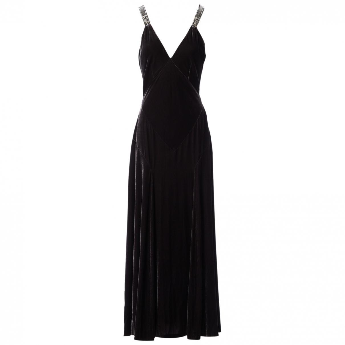 Ralph Lauren \N Silver Velvet dress for Women L International