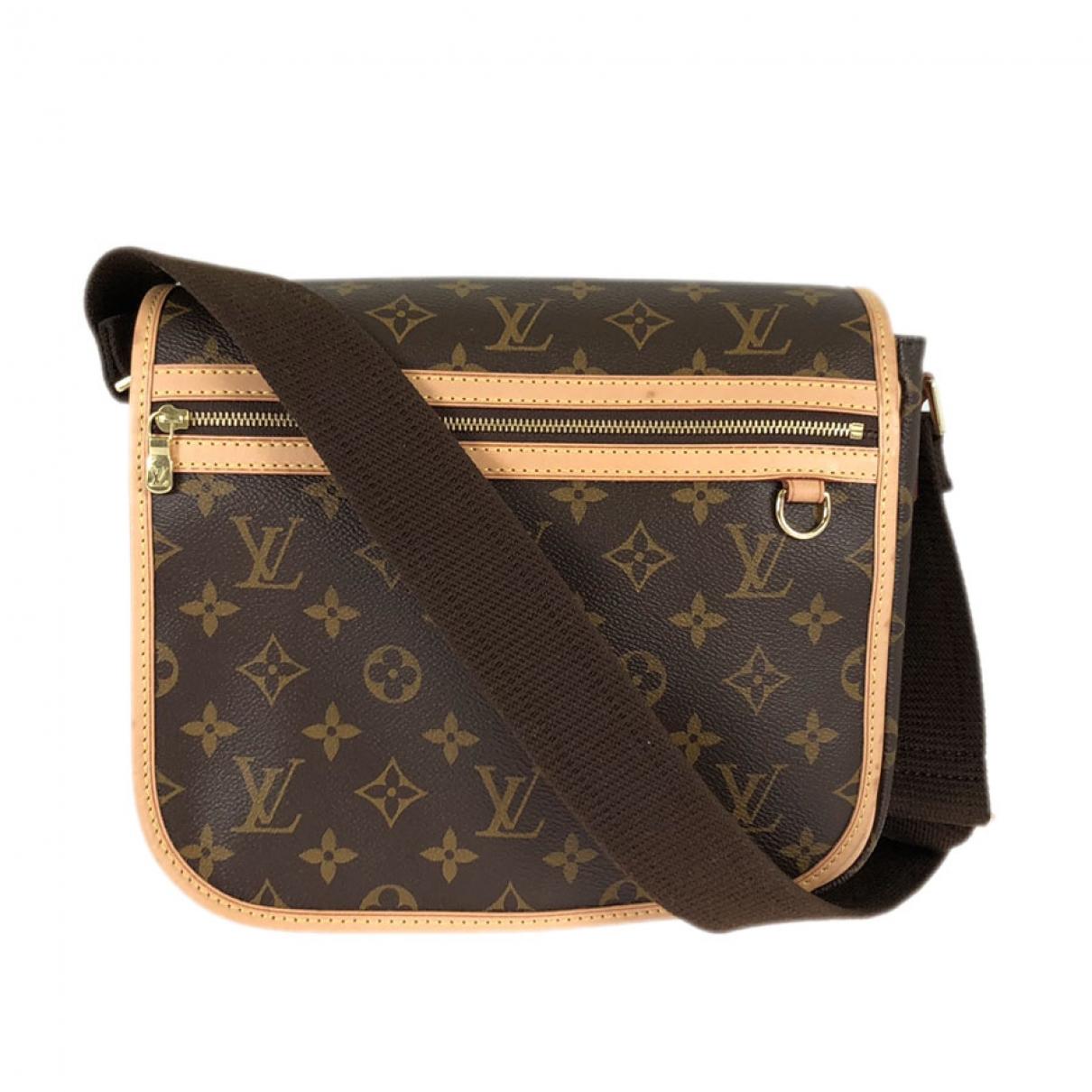 Louis Vuitton Bosphore Handtasche in  Braun Leinen