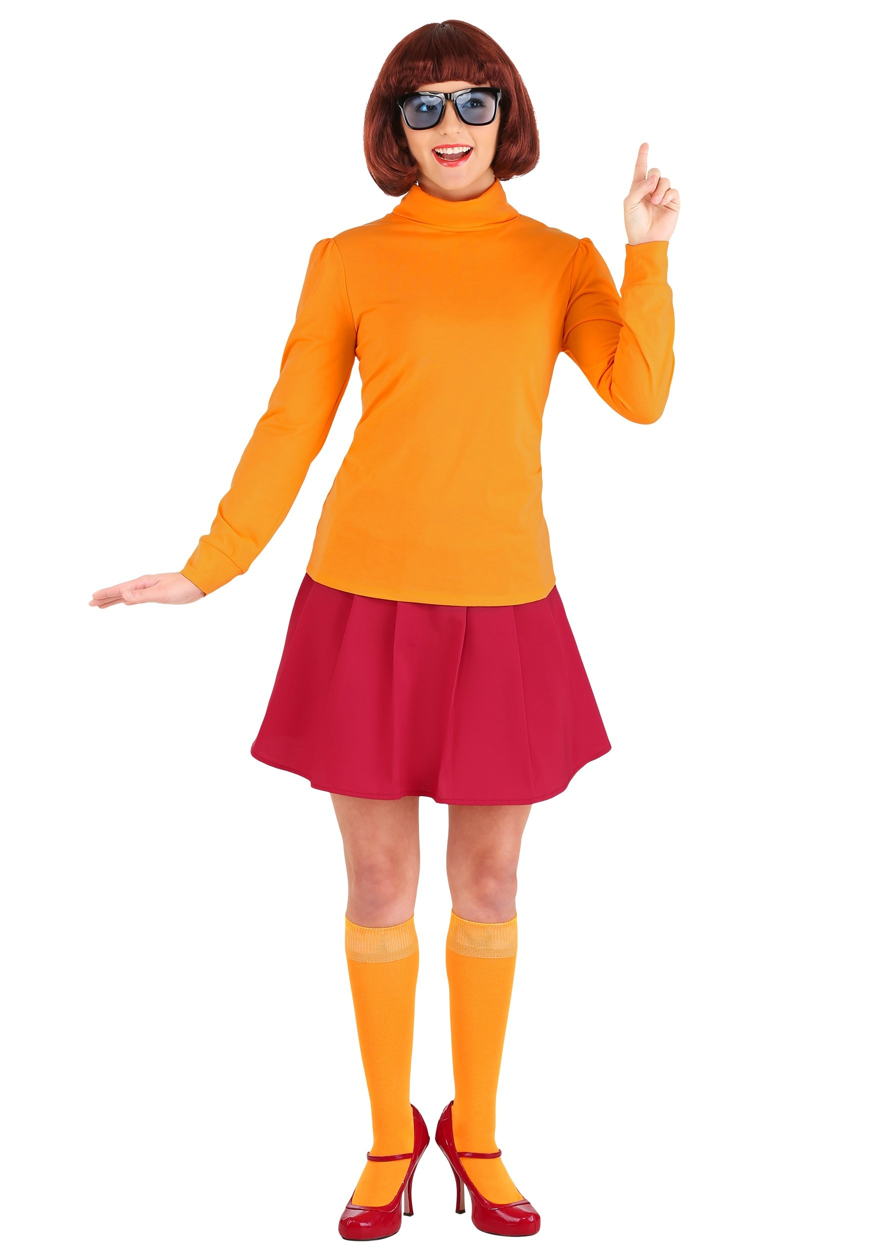 Plus Size Classic Scooby Doo Velma Costume For Adults