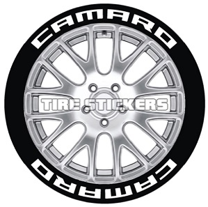 Tire Stickers CAMARO-1921-125-8-O Permanent Raised Rubber Lettering 'Camaro' Logo - 8 of each -19