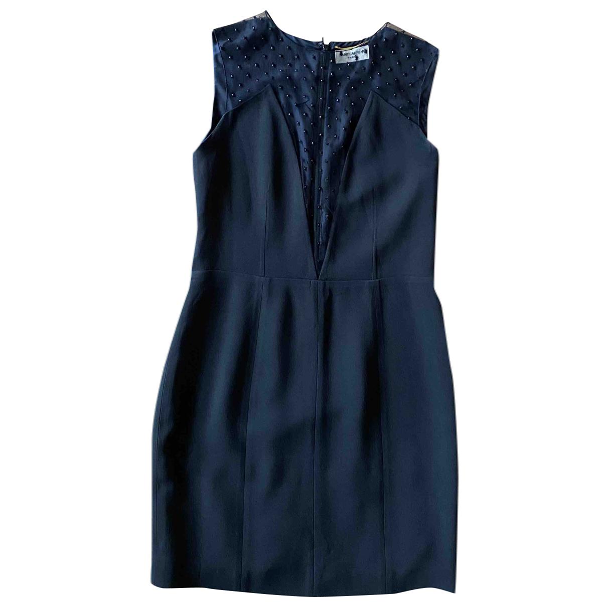 Saint Laurent N Black Wool dress for Women 38 FR