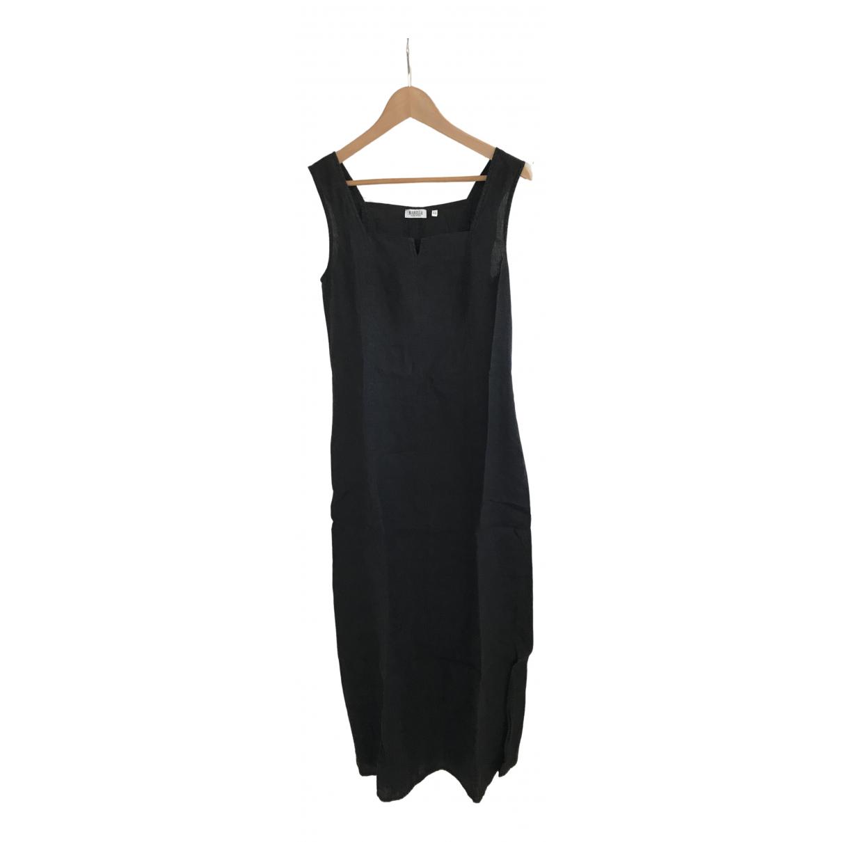 Marella - Robe   pour femme en lin - noir