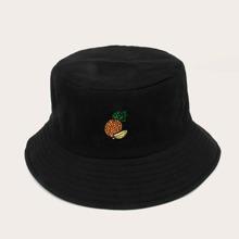 Men Fruit Embroidery Bucket Hat