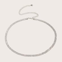 Rhinestone Decor Waist Chain