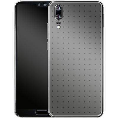 Huawei P20 Silikon Handyhuelle - Dot Grid Grey von caseable Designs