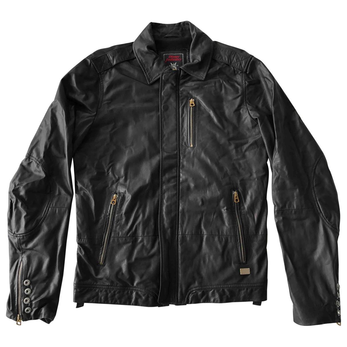 Diesel \N Black Leather jacket  for Men M International