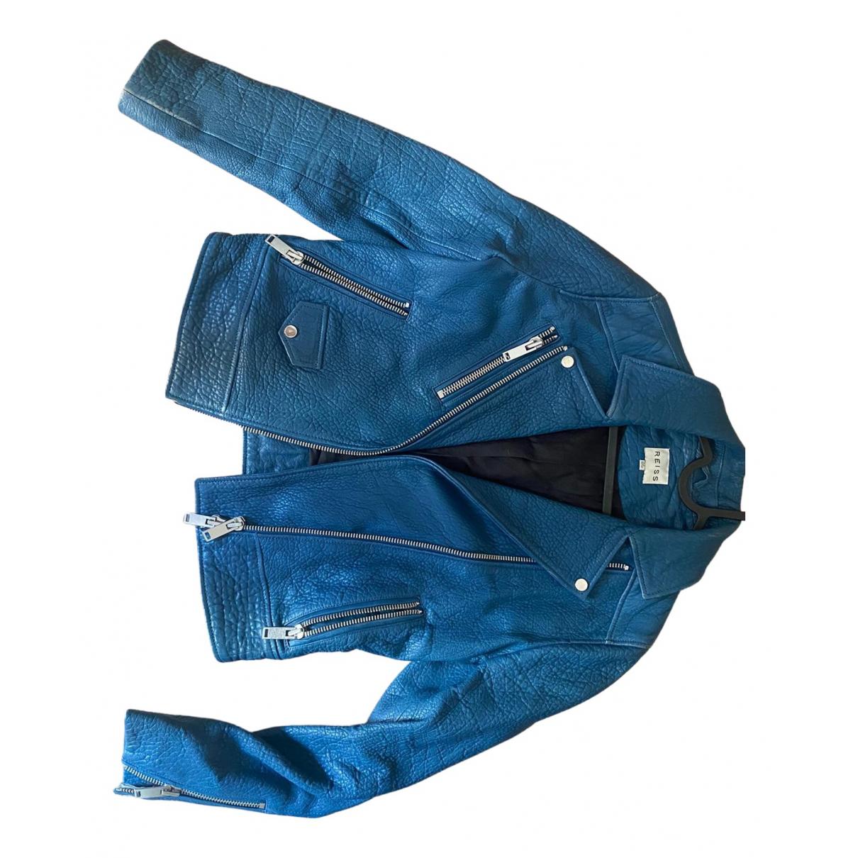 Reiss \N Blue Leather jacket for Women 34 FR