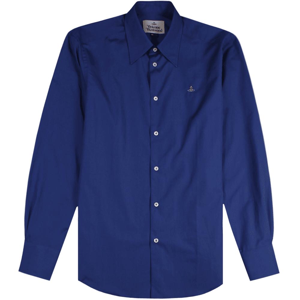 Vivienne Westwood Single Button Shirt Colour: NAVY, Size: EXTRA LARGE
