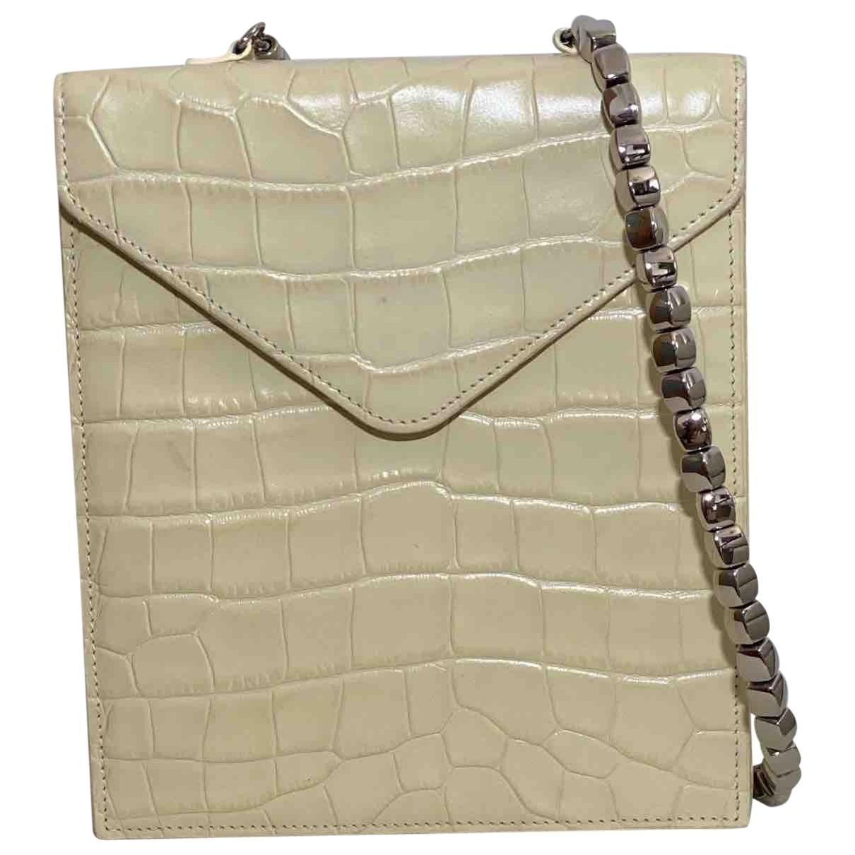 By Far \N Ecru Leather handbag for Women \N
