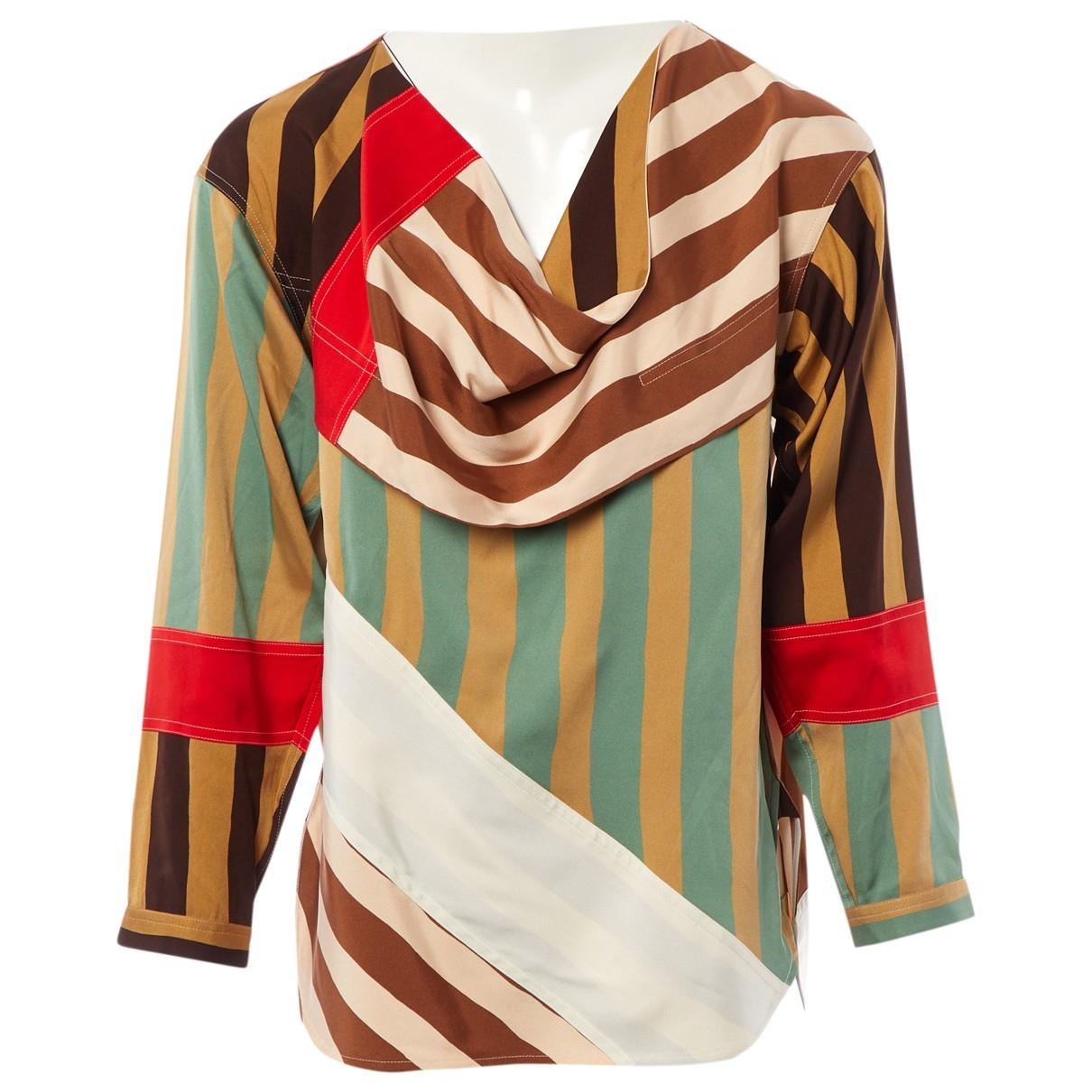 Celine - Top   pour femme en soie - multicolore