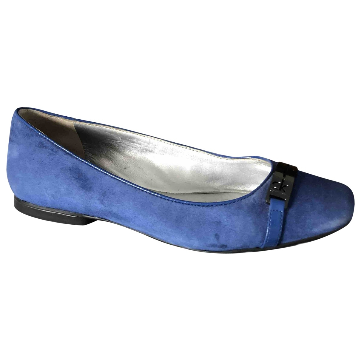 Calvin Klein \N Blue Leather Ballet flats for Women 39 EU