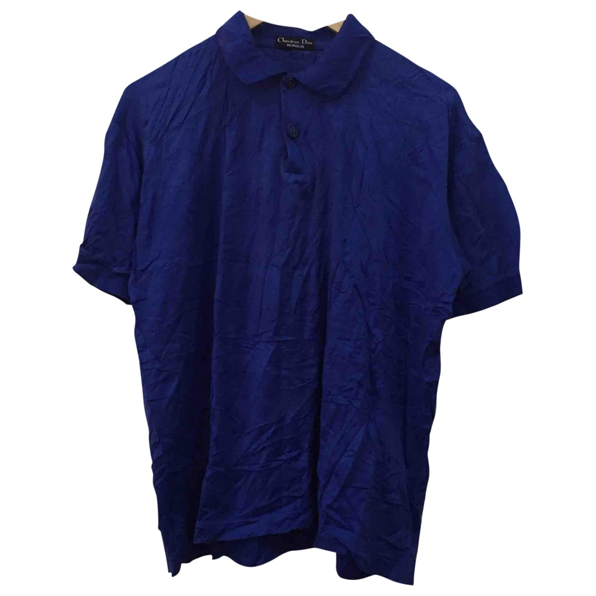 Dior Homme \N Blue Cotton Polo shirts for Men M International