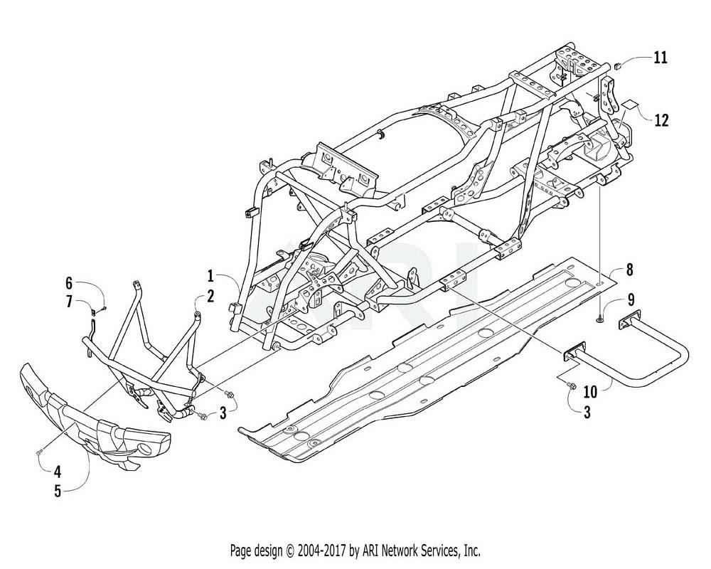 Arctic Cat OEM 3306-332 Bumper Front