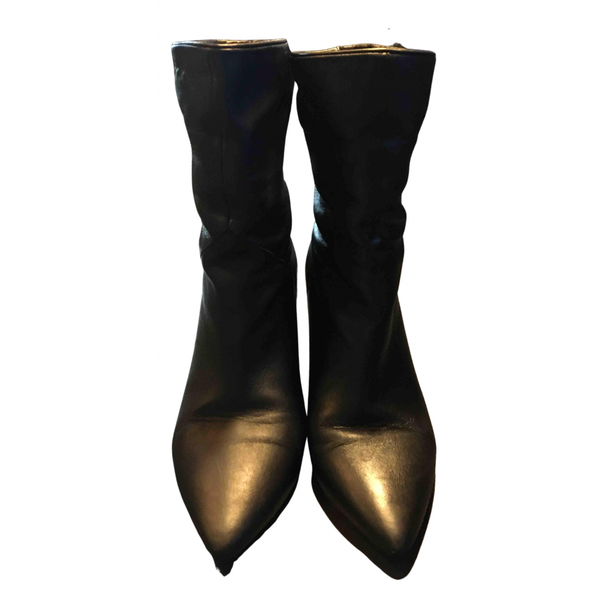 Ba&sh - Boots   pour femme en cuir - noir