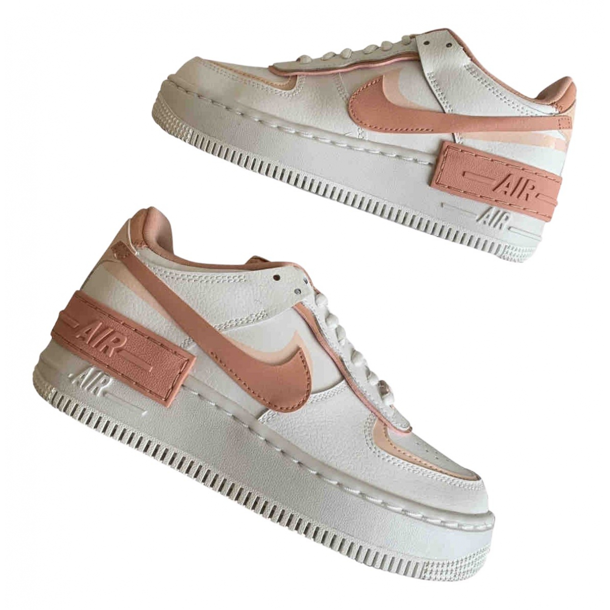 Nike Air Force 1 White Leather Trainers for Women 36 EU