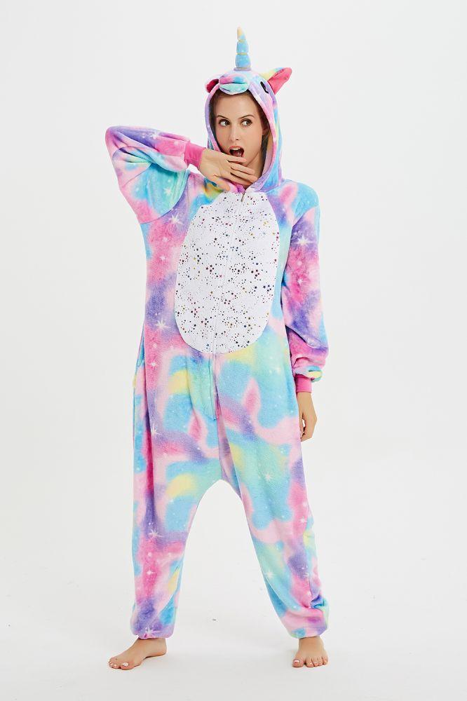 Mosaico Pegasus Pijamas Onesie Kigurumi Franela Mono Mujer Monos Invierno Adultos Camison Pijamas Ropa de dormir