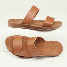 Einfarbig Sandalen
