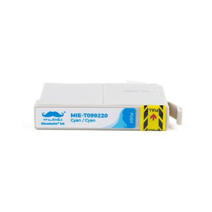 Compatible Epson 99 T099220 cartouche d'encre cyan - Moustache@ - 10/paquet